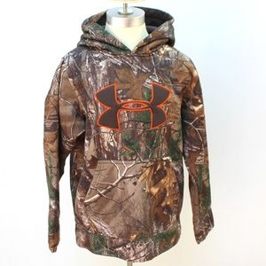 Boys Under Armour Camouflage Hoodie Sz Youth Med